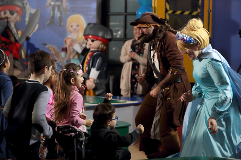 Animators at a Playmobil party.